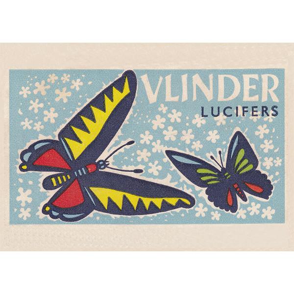 Ansichtkaart-Vlinders
