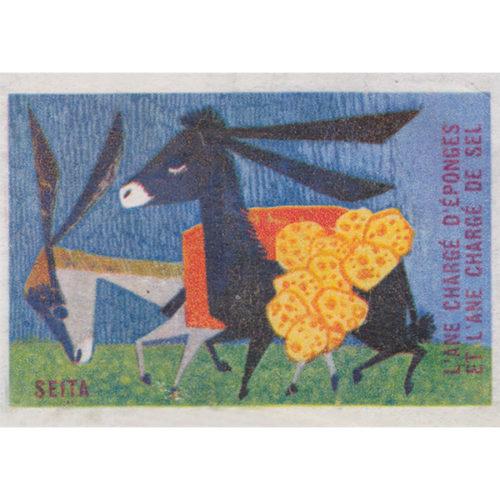 Ansichtkaart-ezels