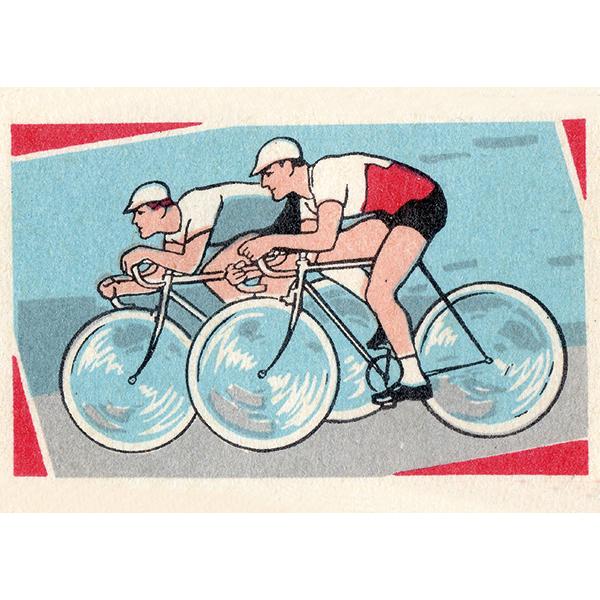 Ansichtkaart-wielrenners