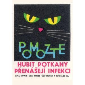 ansichtkaart-zwarte-kattenkop