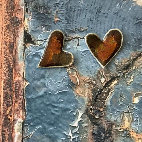 oorstekers-hart-bruin-oranje-emaille