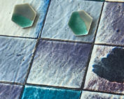 oorstekers-zeshoek-zilver-groen