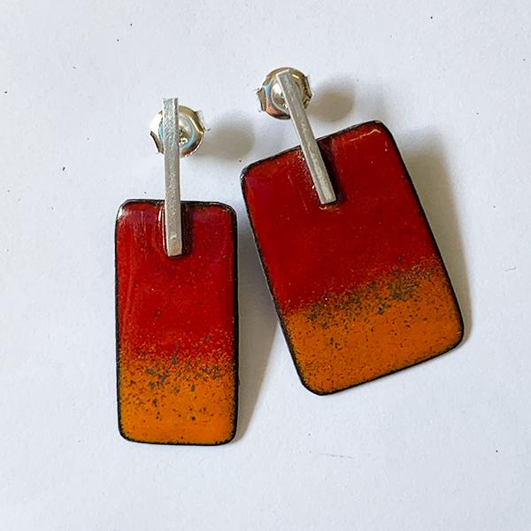 oorbellen-emaille-rood-oranje