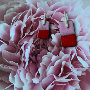 oorbellen-emaille-roze-rood